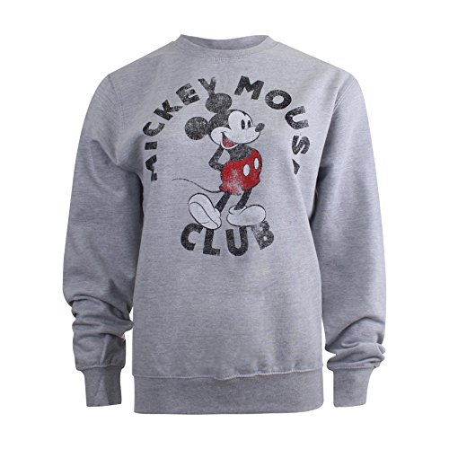 Disney Mickey Mouse Club, Felpa Donna Grey (Sport Grey)