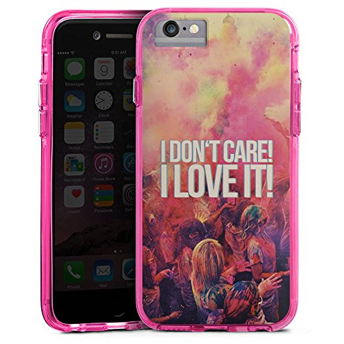 Apple iPhone X Bumper Hülle Bumper Case Glitzer Hülle Party Sayings Phrases Bumper Case transparent pink