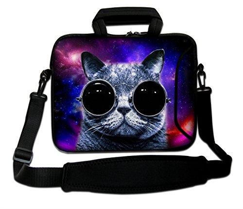DCCN 15 Zoll / 15,6 Zoll Laptoptasche Neopren Notebooktasche mit Zubehörfach und Schultergurt -
