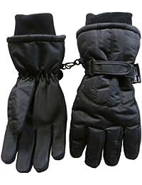 N 'ice tapas de las mujeres frío Thinsulate e impermeable grande guantes de esquí con bordes