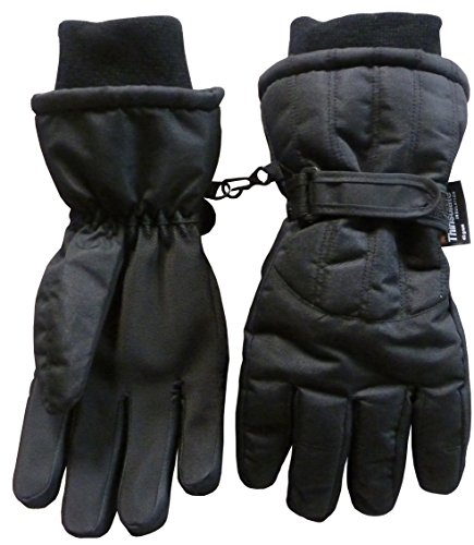 N'Ice Caps Men's Thinsulate and Waterproof Cold Weather Ski Glove with Ridges -