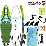 COASTO Air Surf 6' Inflatable Surfboard Wellenreiten US-Finnen 180x51x8cm