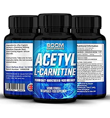 Acetyl L-Carnitine 500mg   Strong Acetyl-Carnitine Tablets   Powerful Nootropics   90 Powerful Energy Boosting Capsules   FULL 3 Month Supply   Safe And Effective   Manufactured In The UK!