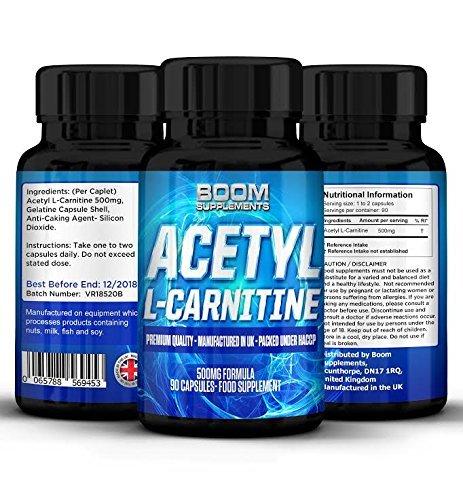 51bcJpop3sL - Acetil L Carnitina 500 mg | Potenti compresse con Acetil-Carnitina | Potente Nootropo | 90 potenti capsule per un Boost di Energia | Fornitura COMPLETA per 3 mesi | Migliora la performance Atletica |