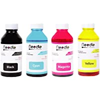 Needle 4x100 ml Inkjet Ink Refill Combo Pack Compatible Ink for HP and Canon Cartridge Printer Bottle CMYK Set