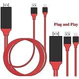 LIRANK Plug & Play 1080P Lightning To HDMI/HDTV AV TV Cable Adapter For IPhone IPad