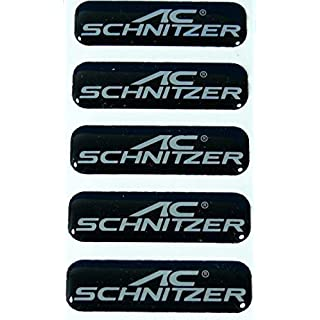 5 Stück AC Schnitzer Emblem Vitro schwarz ca. 40x11mm