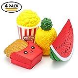 RoyalCare vraie anti stress,4Pcs parfumée Slow Rising Toys Mini Fruit Snack Soulagement du Stress Jouet
