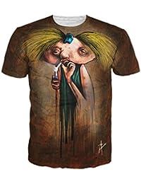 Ninimour Unisex Camiseta Estampada de Manga Corta 3D Artowrk Printing Cartoon T-shirt Shirt Top