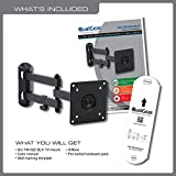 QualGear Articulating Wall Mount for TV Upto 15 - 27-Inch - Black Bild 1