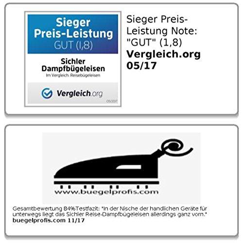 Sichler Reise-Dampfbügeleisen - 7