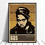 taoyuemaoyi Nas Music Singer Poster Hip Hop Rap Musica Band Star Poster Wall Art Pittura Room Home Decor Stampa su Tela 40 * 60Cm