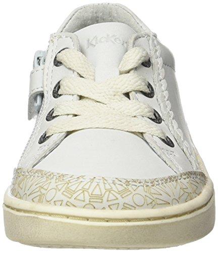 Kickers Lyane, Baskets Basses Fille Blanc (Blanc)