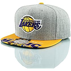 Mitchell & Ness Los Angeles Lakers Magic Johnson Caricature Gorra de la NBA