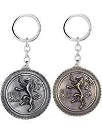 Gratitude Combo Of 2 Game Of Thrones Hear Me Roar Grey & Golden Key Chains