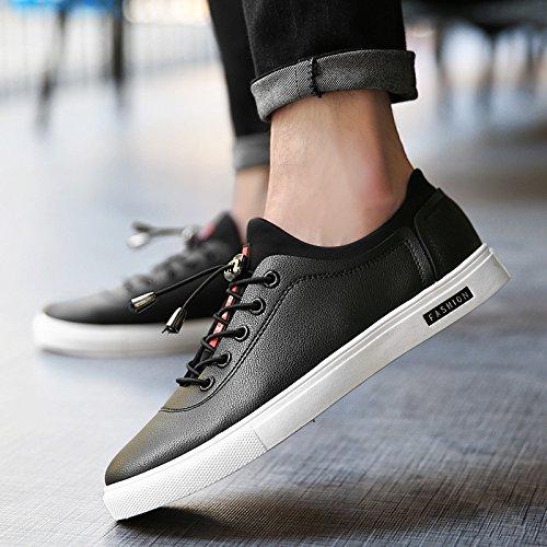 Männer Plate Schuhe Board Schuhe Basketball Sport Running Youth Student Mode Schuhe Black
