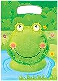 10 Partytüten * GRÜNER FROSCH * für Kindergeburtstag oder Mottoparty // Mitgebsel Tüten Geschenktüten Partytüten green Frog Kröte