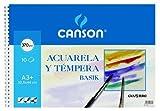 Guarro Canson 822655–Blocco A3, 10fogli, 370gr