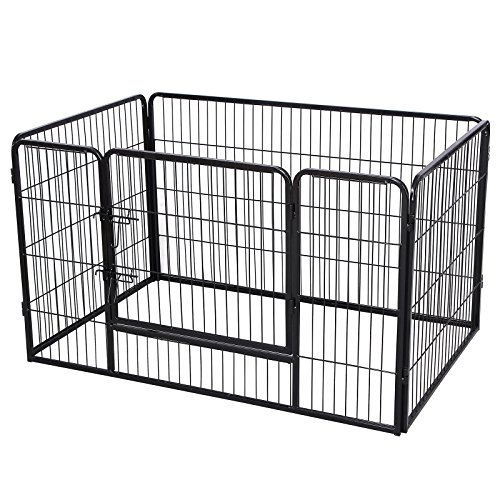 SONGMICS Parc pour chien enclos en fer pour animaux de...