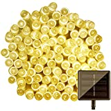 IFITech 20 Feet 50 LED Solar String Light (Yellow)