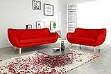 2-Sitzer Sofa ADDE 3-Sizter Sofa Bali Kunstleder Set Wohnzimmerset Garnitur 13 (3+2)