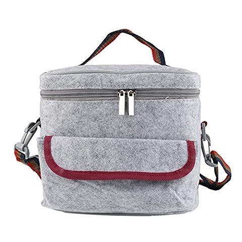 Big Lunch-Box Tasche Perfekt Als Isolierte Mittagessen Tasche Oder Mahlzeit Management Tasche Portable Kompakt Design für Camping und Picknick