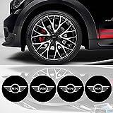 Nouveau 4 x 55mm Diamètre MINI COOPER Centre de roue Cap autocollant emblème auto-adhésif Pour surfaces planes cher Prix
