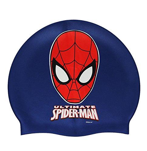 """Badekappe / Badehaube _ wasserdicht _ """" Spider-Man """" - Silikon - 3 bis 7 Jahre - Kinder - für Jungen - Marvel ultimate amazing Spiderman - Schwimmhaube - Duschkappe / Duschhaube - Bademütze - Schwimmkappe Spinne blau"""
