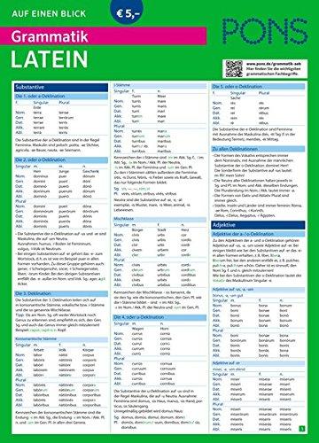 PONS Grammatik auf einen Blick Latein (PONS Auf einen Blick, Band 27)