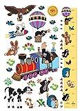 1art1 91459 Der Kleine Maulwurf - Journey Wand-Tattoo Aufkleber Poster-Sticker 85 x 65 cm