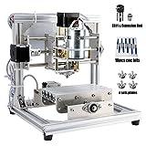 CNC Fräsmaschine, Arbeitsbereich: 130*100*40mm, MYSWEETY DIY CNC Router Maschine 3 Achsen Mini Holz PCB Acryl Fräsmaschine Metall Gravur Carving Maschine, mit ER11 und 5mm Verlängerungsstange