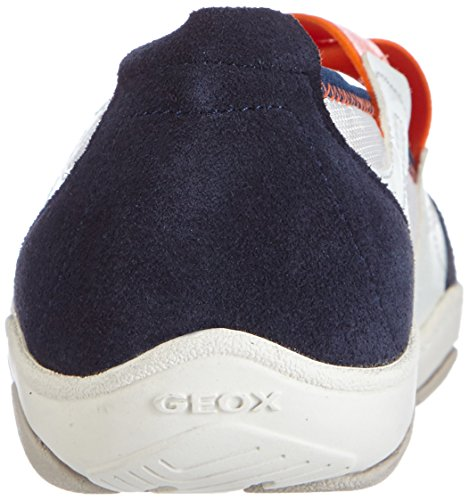 Geox D Arrow A, Baskets Basses femme Blanc - Weiß (WHITE/NAVYC0899)