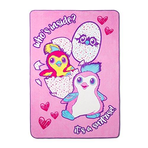 HATCHIMALS Plush Blanket Girls Double Bedding Size 62 x 90 Super Soft