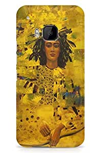 GeekCases Gold Girl Back Case for HTC One M9