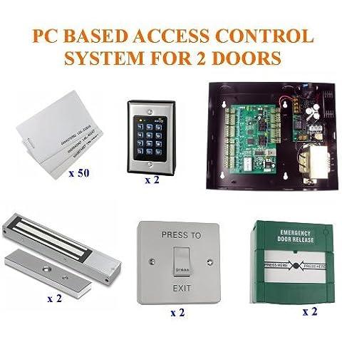 tc342- ordenador TCP/IP BASE completa 2puerta entrada sistema de control de acceso para PC