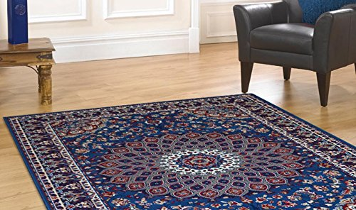 billige Teppich mit persischen Design Klassisch Teppich hellblau ROYAL SHIRAZ 2082-LIGHT BLUE
