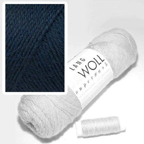 Lang Jawoll Superwash Sockenwolle Farbwahl (34 - Marine) -