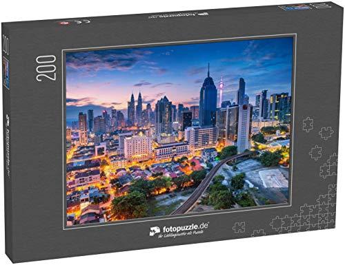 fotopuzzle.de Puzzle 200 Teile Kuala Lumpur. Luftbild des Stadtbildes von Kuala Lumpur, Malaysia bei Sonnenaufgang (1000, 200 oder 2000 Teile)