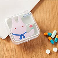 SMARTRICH 1Tragbar Leer Drogen Box 4Fächer Mini Cute Pillendose Medizin Case für Gesunde Pflege, Plastik, As... preisvergleich bei billige-tabletten.eu