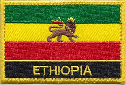Äthiopien-Flagge, Löwe von Judah 1897 to 1974 Flagge Patch Aufnäher bestickt, rechteckig, zum Aufnähen oder Aufbügeln, exklusives Design von 1000 Flaggen (Patch äthiopien)
