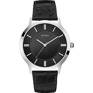 Guess Herren-Reloj analógico de Pulsera de Cuarzo Cuero W0664G1