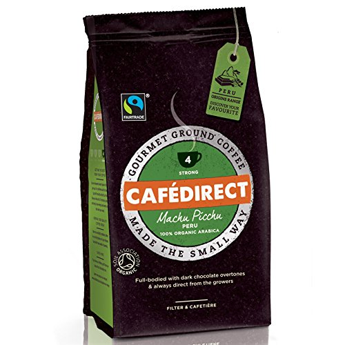 (Pack Of 6) Cafe Direct - Fair Trade - Organic Machu Picchu Fairtrade - (227g)  (Pack Of 6) Cafe Direct – Fair Trade – Organic Machu Picchu Fairtrade – (227g) 51bcgxjDqyL