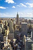 Poster 60 x 90 cm: Manhattan Skyline in New York City, USA von Jan Christopher Becke - Hochwertiger Kunstdruck, Kunstposter