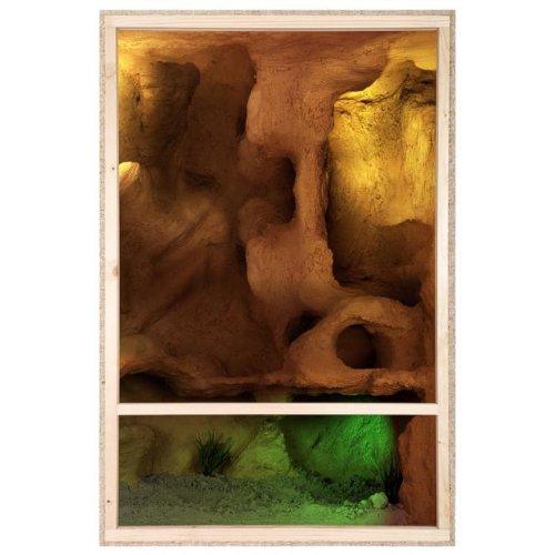 Repiterra® Hoch-Terrarium aus Holz 60cmx120cmx60cm mit Seitenbelüftung aus OSB Platten mit Floatglas - 4
