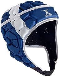 Gilbert Falcon 200 Écosse - Casque de Rugby - Blanc/Bleu