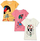 #1: Fort Collins Girls' Floral Regular Fit T-Shirt (Pack of 3)