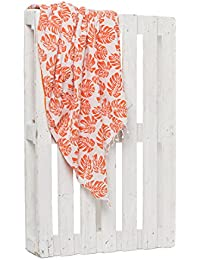 Montse Interiors Toalla Pareo Playa Reversible Tejida (Orange-3)