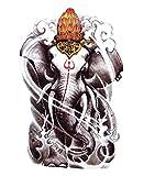 Temporary Tattoo For Girls Men Women 3D Ganesha Sticker Size 19x12CM - 1PC.