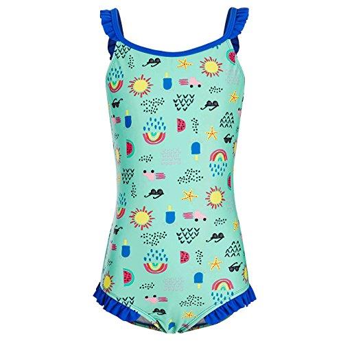 DAYU Mädchen Badeanzug Einteiler Sonnenschein Beach Süß Drucken Badeanzug Bademode Kinder Beachwear -XL