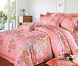 Weimilon Baumwolle Bettbezug Blumen,Einzigen,Student,Individuell,Double,Vier Jahreszeiten A Casual Chic 150X215Cm(59X85Inch) (Color : S, Size : 200x230Cm)